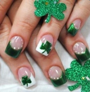 Get your St. Patrick's Day Nail Designs at Hair Journeys!